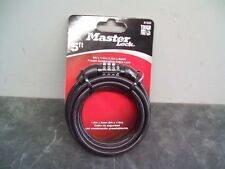 Master Lock 5' Ft. Motorcycle Bike Security Cable NEW! 4 Digit Combination 8152D