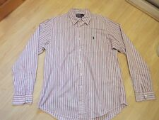 POLO by Ralph Lauren Custom Fit Manica Lunga Camicia A Righe Taglia Large L