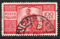 Italy 100 Lire Stamp 1946 Used (4480)