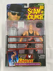 WCW NWO KONNAN SLAM N CRUNCH WRESTING TOY NEW SEALED