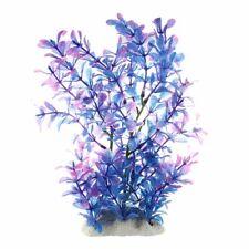 Artificial Plastic Water Plant Purple-blue Deco of Aquarium S6U8