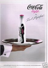 Publicité advertising 2010 Boisson Coca Cola Light par Karl Lagerfeld