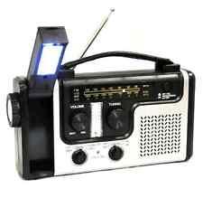 Emergency Solar Hand Crank Dynamo AM FM NOAA Weather Radio Flashlight NEW