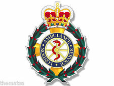 "4"" LONDON AMBULANCE SERVICE BADGE CREST HELMET BUMPER STICKER DECAL USA MADE"