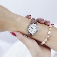 Women's Leather Strap Watches Ladies Casual Quartz Analog Round Dial Wrist Watch