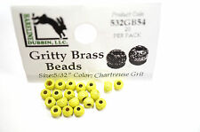 Gritty Brass Beads Ø 3,8mm Hareline 20 St. esibisce OTTONE beads Chart. Grit