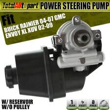 Power Steering Pump w/Reservoir for Rainier Chevy Trailblazer Gmc Envoy Isuzu