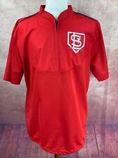 St. Louis Cardinals Monsanto 6/23/17 SGA 1/4 Zip Batting Practice Jersey Mens XL