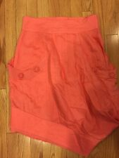 ANIMALE Lagenlook Peach Summer Linen Skirt Women's Size US 8 FR 40