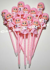 12 BABY SHOWER BABY REVEAL PINK PARTY DECORATION SUPPLIES PENS RECUERDOS GIRL