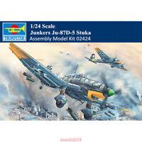 Trumpeter German Junkers 02424 1/24  Ju-87D-5 Stuka Aircraft Assembly Model Kit