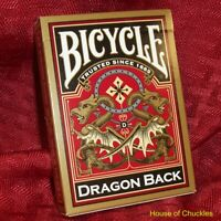 Stripper Deck, Bicycle Dragon Gold - Magic Card Trick - Shaved - Tapered