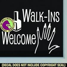 NAIL SALON WALK-INS WELCOME Vinyl Decal Sticker Shop Front Door Window Sign