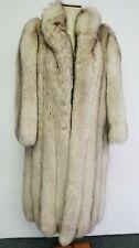 Women's Silver Fox Full Length Fur Coat From Grosvenor of Canada-Size M