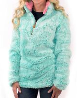 NEW from Simply Southern - Womens Sherpa Pullover in Seaglass Green