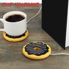 HN- KF_ Donut USB Cup Warmer Heater Coffee Milk Tea Beverage Heating Mug Pad New