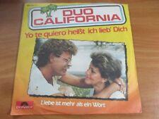 80er Jahre - Duo California - Yo te quiero heißt ich lieb dich