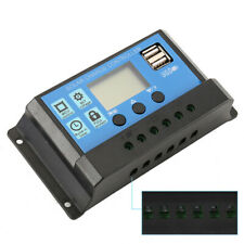 12v 24v 20A LCD Solar Panel Battery Regulator Charge Controller Dual USB Lovely