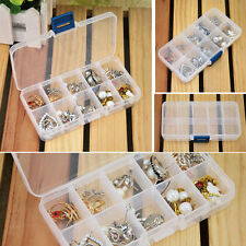 Storage Case Box Holder Container Pills Jewelry Nail Art Tips 10 Grids Useful