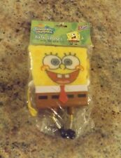 NEW IN PACK Sponge Bob Square Pants Bath Sponge & Holder Suction Cup 3M O-CEL