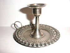 RARE ANTIQUE WHITING STERLING SILVER REPOUSSE ORNATE CHAMBERSTICK 3557