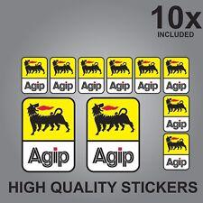 10x AGIP  SPONSOR STICKERS DECALS GRAPHICS VINYL STICKER SHEET