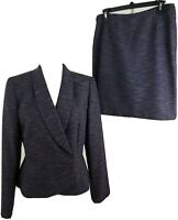 TAHARI By ASL ~Woman Size 8~ Purple 2 pc. Skirt/Suit Office Wear Fully Lined.