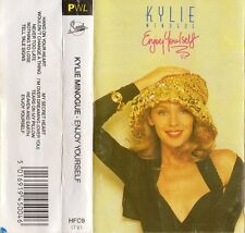 """KYLIE MINOGUE """"ENJOY YOURSELF"""" RARE SPANISH CASSETTE WITH BOOKLET -SANNI RECORDS"""