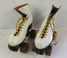 Vintage Skates Chicago Roller Skate Co. White Size 4