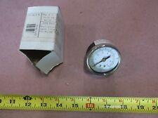 "Evergreen Packaging Air Pressure Gauge, 2""Face,1/4"" NPT , 0-100 PSI, Back Mount"