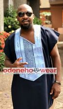 Odeneho Wear Men's 2 Pieces Set Agbada. African Clothing.All Colors.