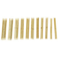11 Sizes 5'' (12.7cm) Double Point Bamboo Kits Knitting Needles 5 Sets (2mm V5J1