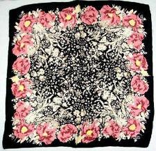 """35"""" 100% Silk Scarf Square Women Bandana Neck Dress Shawl Wrap Print FJ31093-A"""