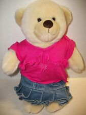 Build-a-Bear Teddy Bear with Shirt & Skirt