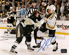 Gregory Campbell Boston Bruins Signed Fight Pittsburgh Penguins Joe Vitale 8x10