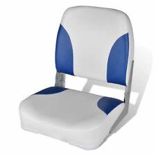 vidaXL Sedile per barca con schienale pieghevole cuscino blu-bianco 41x 36 x 48