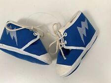 Vintage Blue Sneakers Lighting Streak Gold Bug Infant Shoes
