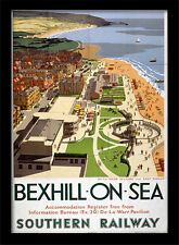 Bexhill On Sea Southern Railway - Framed 30 x 40 Official Print