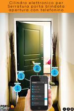Cilindro elettronico per Serratura porta blindata apertura con telefonino
