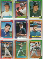 1990 Topps Baseball Team Sets with Traded **Pick Your Team**