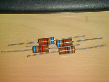 4 X MADE IN JAPAN RIKEN OHM RM2 68R 68 OHM +/-2% 2W AUDIO GRADE CARBON RESISTOR