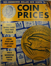 Coin Prices Magazine January 1974 Edition Issue #34 with Additional Price Guides