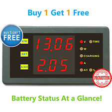 Buy 1 Get 1 Free Battery Monitor 6in1 Volt AMP Power AH Remaing Capacity Meter