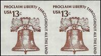 VEGAS - 1975 Sc# 1618b - MNH - Imperf Error Pair - 13c Proclaim Liberty - EQ17