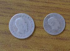 LOTTO 2 MONETE REGNO D' ITALIA VITTORIO EMANUELE II 1 LIRA 2 LIRE 1863 NAPOLI
