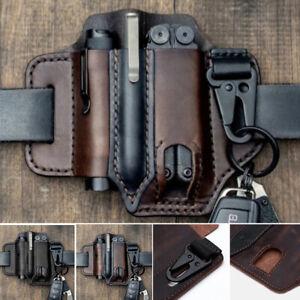 Leatherman Sheath Multitool Leather With Pen Holder Sheath EDC Pocket Organizers