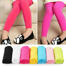 Kids Girl Leggings Velvet Kids Casual Candy Color For 5-9Y One size