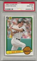 1983 DONRUSS #586 WADE BOGGS, PSA 10 GEM MINT, ROOKIE, RC, HOF, BOSTON RED SOX