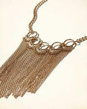 HOLLISTER GOLDEN Fringe Statement Necklace LADIES GIRLS Jewellery, RRP £13