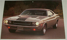 1970 Dodge Challenger RT 2 dr ht car print (grey & black)